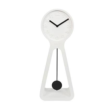 Maisonetstyles Horloge 38x2x97,5 cm en résine blanc - GIANT