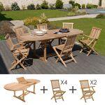 Maisonetstyles Ensemble table ovale - 4 chaises - 2 fauteuils Découvrez... par LeGuide.com Publicité