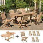 Maisonetstyles Ensemble table ovale et 6 chaises en teck Ensemble table... par LeGuide.com Publicité