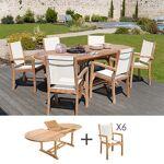 Maisonetstyles Ensemble table ovale et 6 fauteuils en teck Succombez... par LeGuide.com Publicité