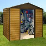 Maisonetstyles Abri de jardin en métal 11,39m² - beige et marron Facilement... par LeGuide.com Publicité