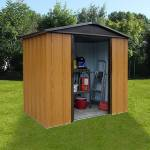 Maisonetstyles Abri de jardin métal 4,38 m² - aspect bois et marron Véritable... par LeGuide.com Publicité