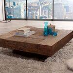 Maisonetstyles Table basse carrée 105x105x36 cm en bois massif - BJORN... par LeGuide.com Publicité