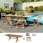 Maisonetstyles Ensemble en teck table pieds croisés + 6 chaises pliantes... par LeGuide.com Publicité