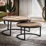 Maisonetstyles Lot de 2 tables rondes 75 et 60 cm en bois et métal Cette... par LeGuide.com Publicité