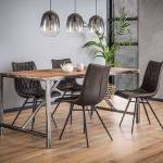 Maisonetstyles Table à manger 180 cm en bois brut et métal - GRANY Vos... par LeGuide.com Publicité