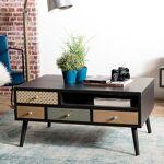 Maisonetstyles Table basse 8 tiroirs 90 cm en bois multicolore La décoration... par LeGuide.com Publicité