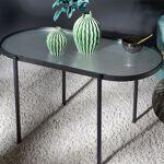 Maisonetstyles Table basse ovale 40x80x45 cm en verre et métal noir Redynamisez... par LeGuide.com Publicité