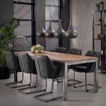 Maisonetstyles Table à manger 210 cm pieds droits en bois brut et métal... par LeGuide.com Publicité