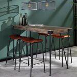Maisonetstyles Table de bar 140 cm en teck grisé - TREKA Pour un intérieur... par LeGuide.com Publicité