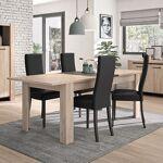 Maisonetstyles Table rectangulaire avec allonge décor chêne et noir -... par LeGuide.com Publicité