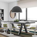 Maisonetstyles Table à manger extensible 200-250 cm décor béton et noir... par LeGuide.com Publicité