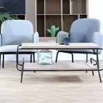 Maisonetstyles Table basse industrielle 110x63x44,5 cm en pin et métal... par LeGuide.com Publicité