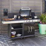 Maisonetstyles Barbecue au gaz 3 brûleurs et plancha avec desserte -... par LeGuide.com Publicité