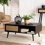 Maisonetstyles Table basse 2 tiroirs en rotin naturel et bois noir -... par LeGuide.com Publicité