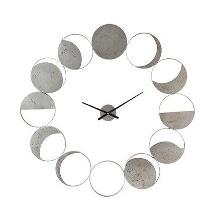Maisonetstyles Horloge ronde 102 cm à motifs lune en métal