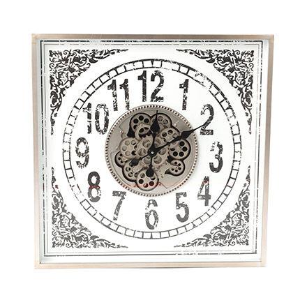 Maisonetstyles Horloge ancienne 87x14x86 cm en verre et méatl