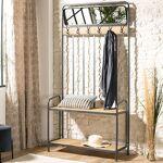 Maisonetstyles Vestiaire 6 portants et 2 étagères en sapin et métal -... par LeGuide.com Publicité