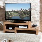 Maisonetstyles Meuble TV en décalé en bois naturel - HAMBOURG Avec sa... par LeGuide.com Publicité