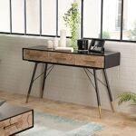 Maisonetstyles Console 3 tiroirs en bois marqueté et métal - LAUSY Craquez... par LeGuide.com Publicité
