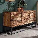 Maisonetstyles Buffet 3 portes 160 cm en acacia et métal - MULLO Profitez... par LeGuide.com Publicité