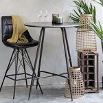 Maisonetstyles Table de bar ronde 80x100 cm en métal patiné noir Pour... par LeGuide.com Publicité
