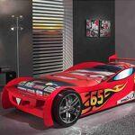 Maisonetstyles Lit voiture 246,6 x 111 x 66 cm + matelas rouge - CARINO... par LeGuide.com Publicité
