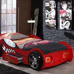 Maisonetstyles Lit voiture de course avec tiroir 90x200 cm rouge - CARINO... par LeGuide.com Publicité