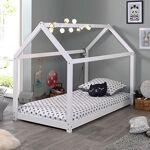Maisonetstyles Lit cabane 90x200 cm en bois blanc - ADAHY Créez plus... par LeGuide.com Publicité