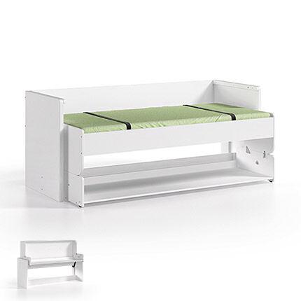 Maisonetstyles Lit/Bureau 90x200cm blanc