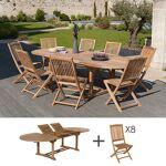 Maisonetstyles Ensemble table ovale et 8 chaises en teck Succombez à... par LeGuide.com Publicité