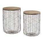 Maisonetstyles Set de 2 bouts de canapé rond en bois et métal - Spider... par LeGuide.com Publicité