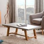 Maisonetstyles Table basse 120x60 cm en béton et chêne - ATYLIA Issue... par LeGuide.com Publicité