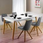 Maisonetstyles Table à manger avec allonges 160/250x75x90 cm blanc -... par LeGuide.com Publicité