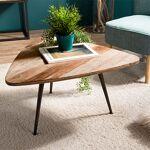Maisonetstyles Table basse 75,5x70x40 cm en teck recyclé et métal - APPOLINE... par LeGuide.com Publicité