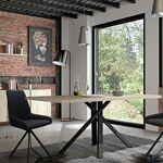 Maisonetstyles Table à manger 200x100x75 cm chêne et noir - SOREN Une... par LeGuide.com Publicité