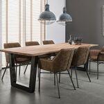 Maisonetstyles Table 200cm ép 38 mm en acacia massif et inox brossé noir... par LeGuide.com Publicité