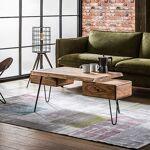 Maisonetstyles Table basse 130x60x45 cm en acacia massif - ALONG Découvrez... par LeGuide.com Publicité