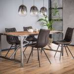 Maisonetstyles Table à manger 150 cm en bois brut et métal - GRANY Ne... par LeGuide.com Publicité