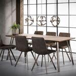 Maisonetstyles Table à manger 180 cm avec décor chêne brun - CLEO Cette... par LeGuide.com Publicité