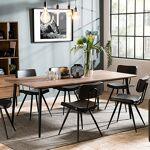Maisonetstyles Table à manger 200x100 cm en acacia et métal - KEOPS Cette... par LeGuide.com Publicité