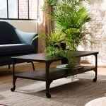 Maisonetstyles Table basse 110x55x41 cm en métal noir - PILEA Avec cette... par LeGuide.com Publicité