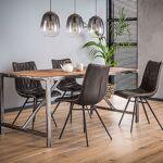 Maisonetstyles Table à manger 240 cm en bois brut et 4 chaises en PU... par LeGuide.com Publicité
