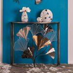 Maisonetstyles Console demi lune 90x36x80 cm en métal avec motif fleurs... par LeGuide.com Publicité
