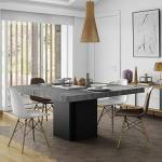 Maisonetstyles Table à manger carrée 130 cm décor béton et noir - DINNY... par LeGuide.com Publicité