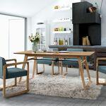 Maisonetstyles Table à manger 180x90x75 cm décor chêne et blanc - NALA... par LeGuide.com Publicité
