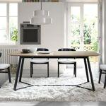Maisonetstyles Table à manger 180x90x75 cm plateau chêne et piétement... par LeGuide.com Publicité