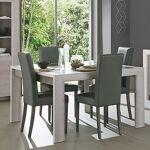 Maisonetstyles Table à manger 180 cm décor chêne cérusé et gris - APRIL... par LeGuide.com Publicité