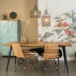 Maisonetstyles Table à manger 160x90x75 cm décor noyer et métal - ALAGON... par LeGuide.com Publicité