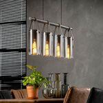 Maisonetstyles Suspension avec 4 lampes 100x12x150 cm en verre chromé... par LeGuide.com Publicité